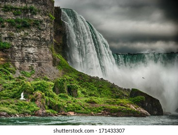 Niagara Falls, wonderful natural landscape in summer season.