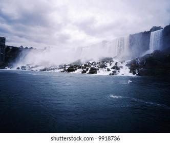 The Niagara great falls landscape in Canada-17