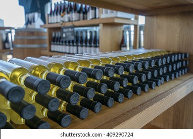 Niagara Icewine bottles on shelf