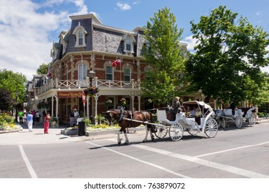 NIAGARA ON THE LAKE, CANADA - JUNE 28, 2016: Prince of Wales hotel on Picton street of Niagara-on-the-Lake