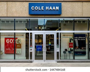 Niagara On the Lake, Canada- May 27, 2019: Cole Haan storefront in Outlet Collection at Niagara. Cole Haan is a American global men's and women's footwear and accessories brand.