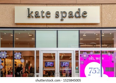 Niagara On the Lake, Ontario, Canada - September 10, 2019: Kate Spade New York  storefront in Outlet Collection at Niagara, an American fashion design house.