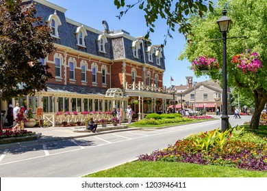 Niagara on the lake, Ontario - June 14, 2018: The Historic Prince of Wales Hotel in Niagara On The Lake, Ontario, Canada is a three storey hotel with 100 rooms and was built in 1864.