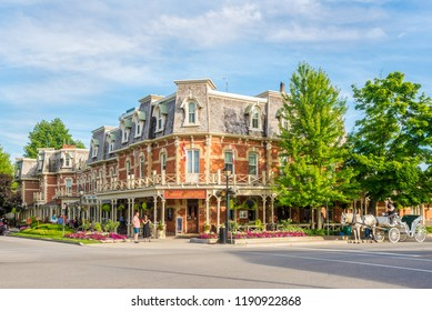 NIAGARA ON THE LAKE,CANADA - JUNE 26,2018 - In the streets of Niagara on the Lake. Niagara on the Lake is a town in Ontario, it is located on the Niagara Peninsula.