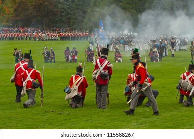 NIAGARA, ON - OCT 13, 2012: Re-enactment of the Battle of Queenston Heights as part of the Bicentennial of the War of 1812 on October 13, 2012.