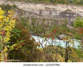 Niagara River flowing through Niagara Gorge