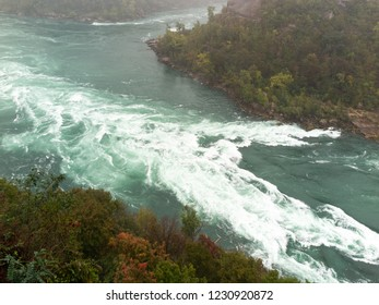 Niagara River Rapids in Gorge between Canada and United States
