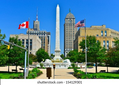 Niagara Square in Downtown Buffalo, NY, USA