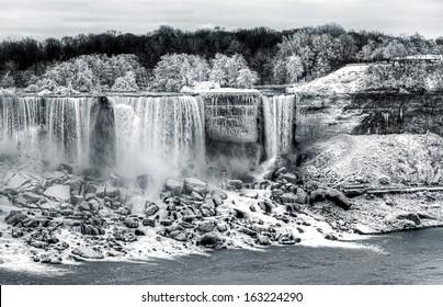 Niagara waterfalls in winter