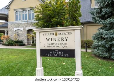 Niagara-on- the- lake, Ontario, Canada- October 19, 2018: Peller Estates winery in Niagara-on- the- lake, Ontario, Canada.