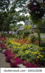 Niagara-on-the-Lake, Ontario, Canada,   July, 21, 2006, This is a beautiful town in Canada where flowers are exquisitely displayed all over the town.  Editorial use