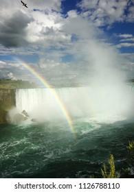 Niagra Falls, Canada with Rainbow