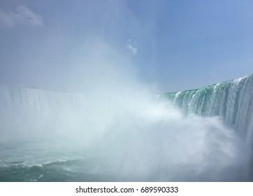 Niagra Falls Canada waterfalls mist scenic background view
