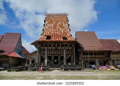Nias, Indonesia - ca. 2016: The House of the King of Nias in the village of Bawomataluo, Remains Sturdy Despite being 300 Years Old.