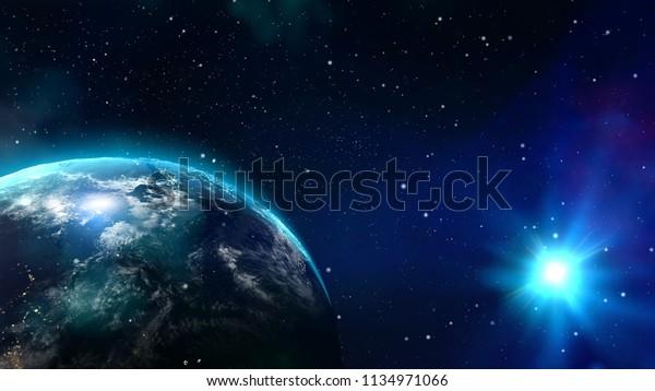 Nibiru Planet X Earth Science Fiction Stock Photo (Edit Now