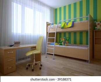 nice 3d nursery interior composition