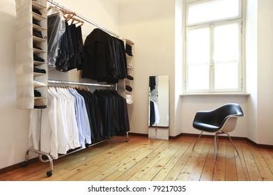 nice apartment refitted, men's wardrobe