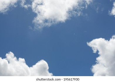 A nice background image with clouds and blue sky, perfect for framing text.