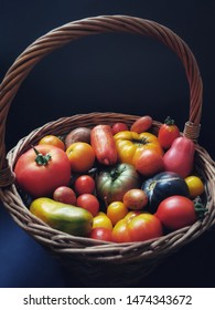 nice basket with fresh tomatoes
