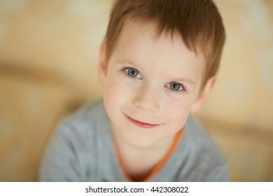 nice boy smiling