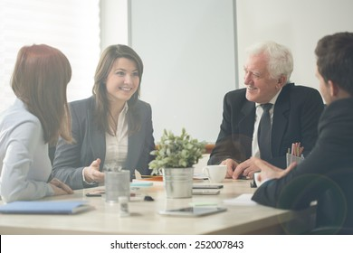 Nice business assemblage in conference room