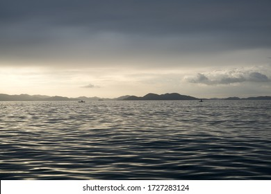 Nice caption of sea and sky while sunset at Philippine Islands