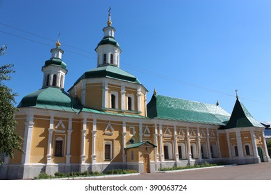 nice church cells in Chernihiv dwelling of monks