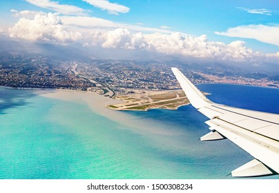 Nice city airport, French riviera