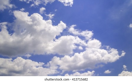 Nice cloud in the blue sky background