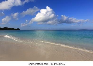 Nice clouds ove ocean shore