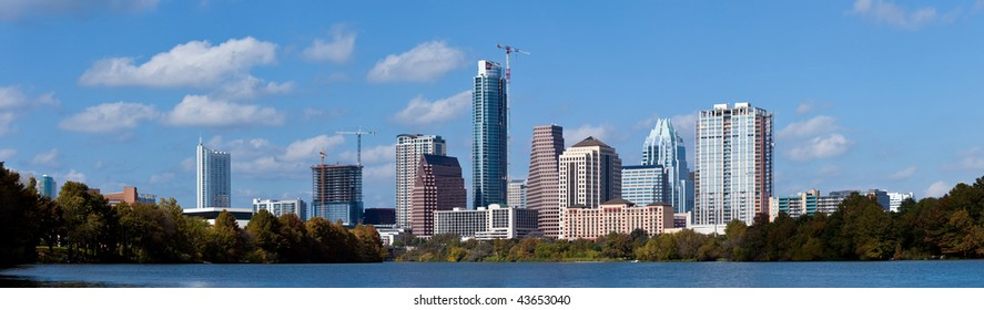 A nice cloudy day in downtown Austin Texas.