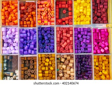 Nice colorful beads of different forms and colors / Beads for jewelry / Beads of different nice colors
