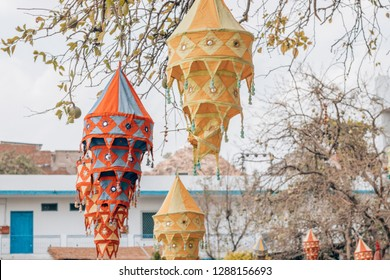 nice and colorful lampions in india