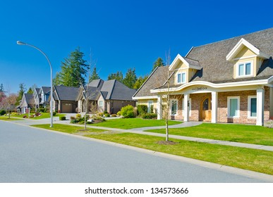 some homes in the suburbs of the north america canada