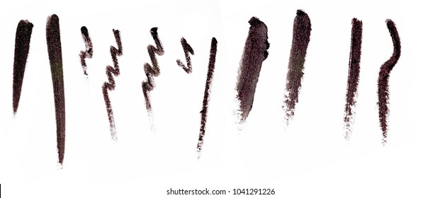 Nice cosmetics eyeshadows swatches separated images