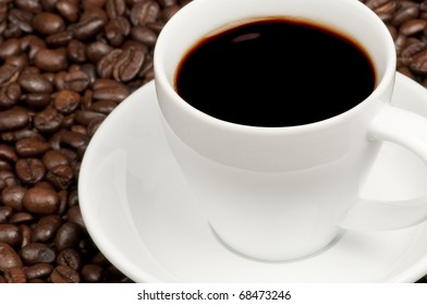 A nice cup of hot black coffee.