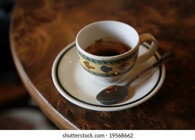 Nice cup of Italian espresso. Shallow DOF.