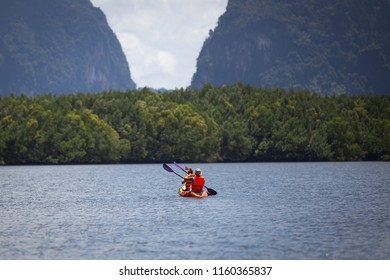 Nice day and beautiful view for Kayaking in Ao tha lane, Krabi, Thailand
