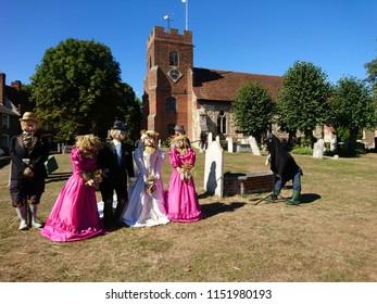 'Nice Day For A Wheat Wedding'  - Scarecrow Festival, Bradwell on sea, Essex