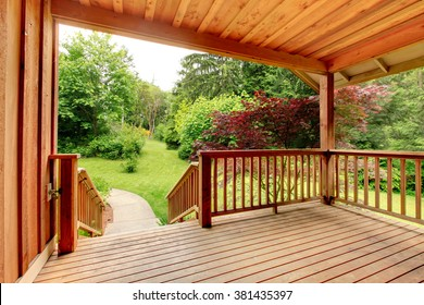 nice deck with beautiful scenery, and space.