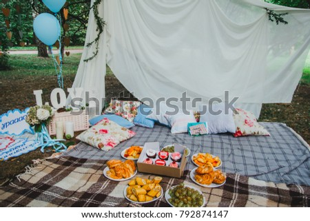 Nice Decoration Party Candy Bar Park Stock Photo Edit Now