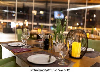 NIce decoration table in restaurant