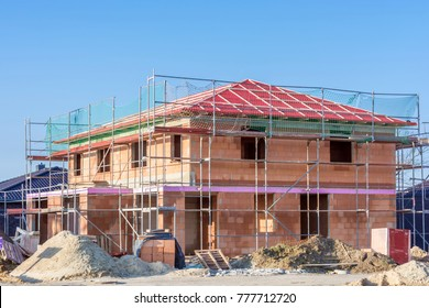 Nice detached house under construction