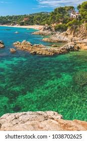 Nice detail from Costa Brava coastal in Spain, Sant Antoni de Calonge