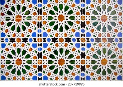 Nice detail of an islamic mosaic floor.