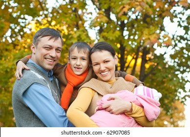 nice family on the nature