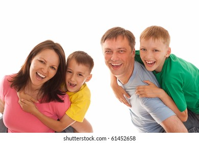 nice family  on a white background
