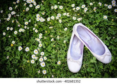 Nice flat white summer lady shoes