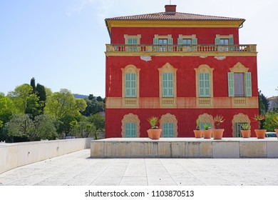 NICE, FRANCE -21 APR 2018- View of the Musee Matisse, a museum devoted to French painter Henri Matisse in Nice, France.