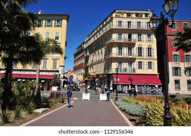 Nice, France - april 19 2016 : the picturesque city center